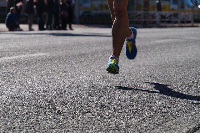 nohy běžkyně