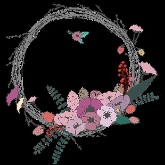 věnce s květinami