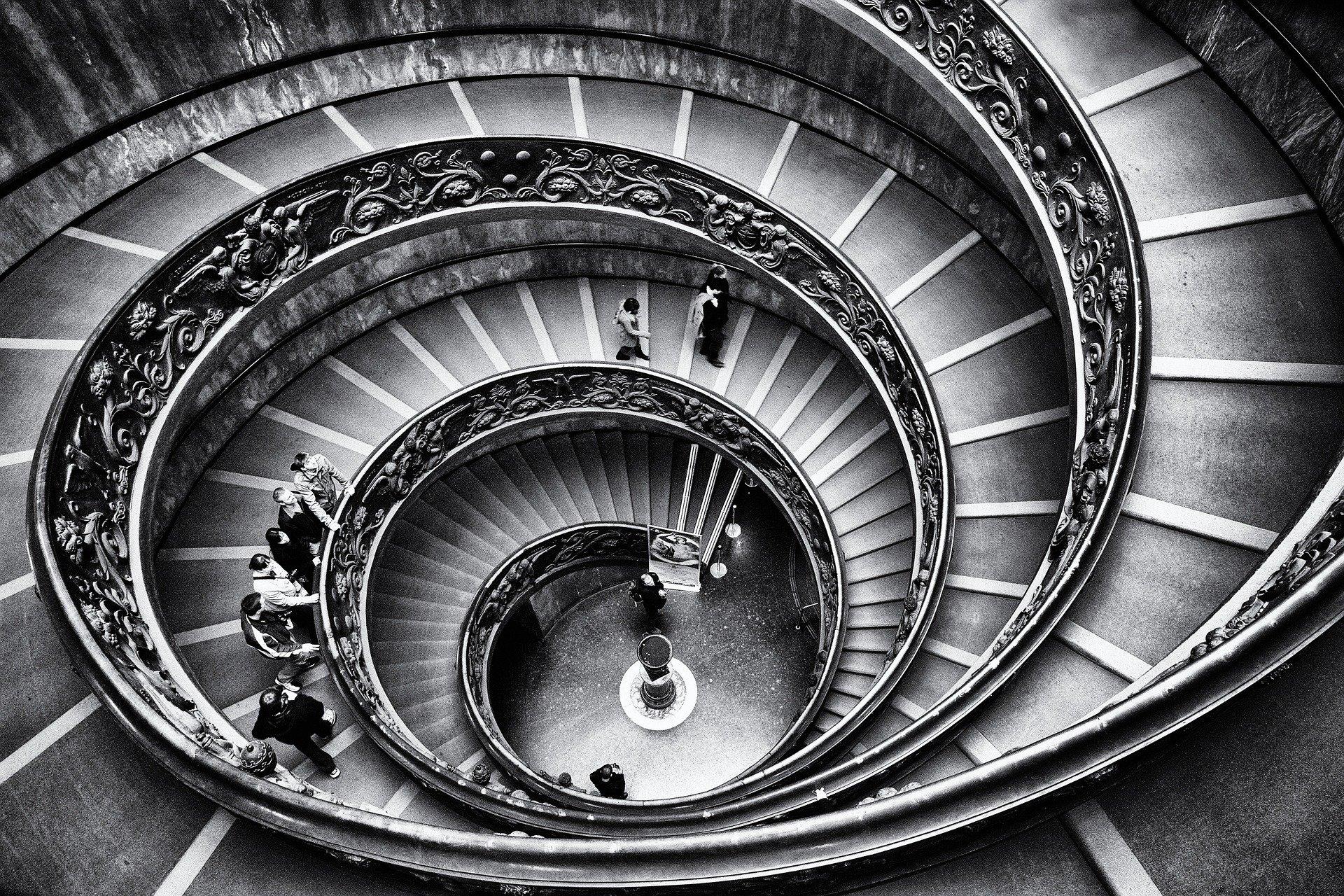 Kované schodiště vždycky zaujme